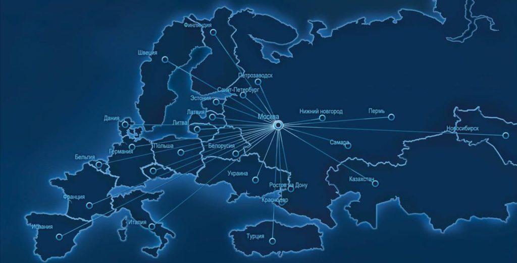 География международных грузовых перевозок автотранспортом
